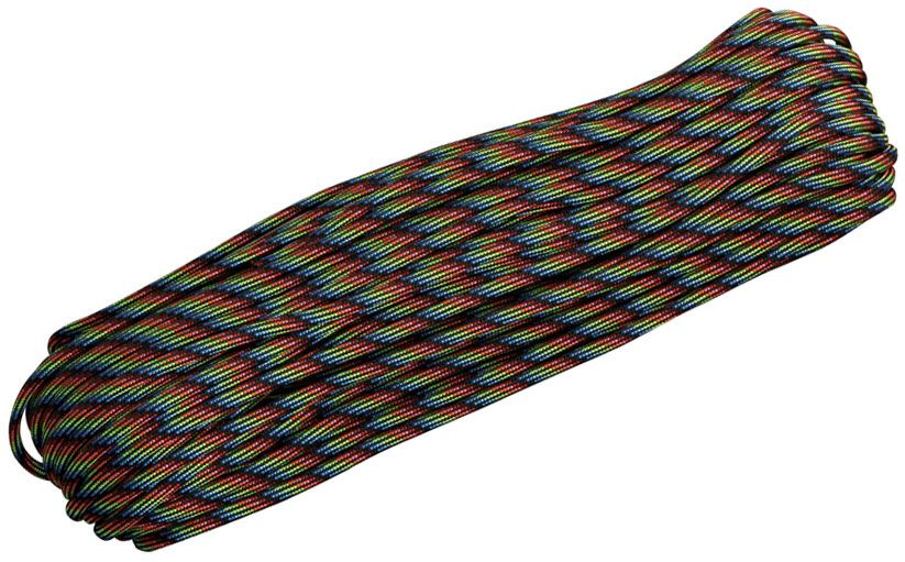 550 Paracord, Dark Stripes, 100 Feet