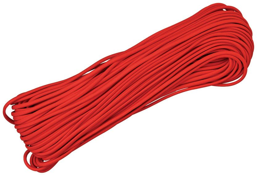 550 Paracord, Red, 100 Feet