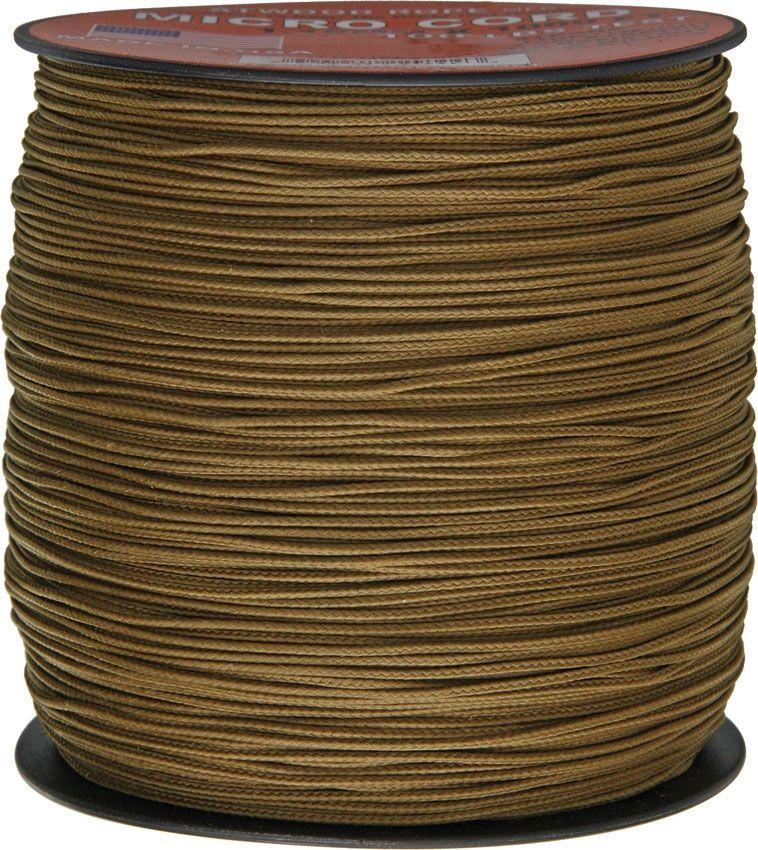 550 Micro Cord, Coyote Tan, Nylon Braided, 1,000 Feet x 1.18 mm