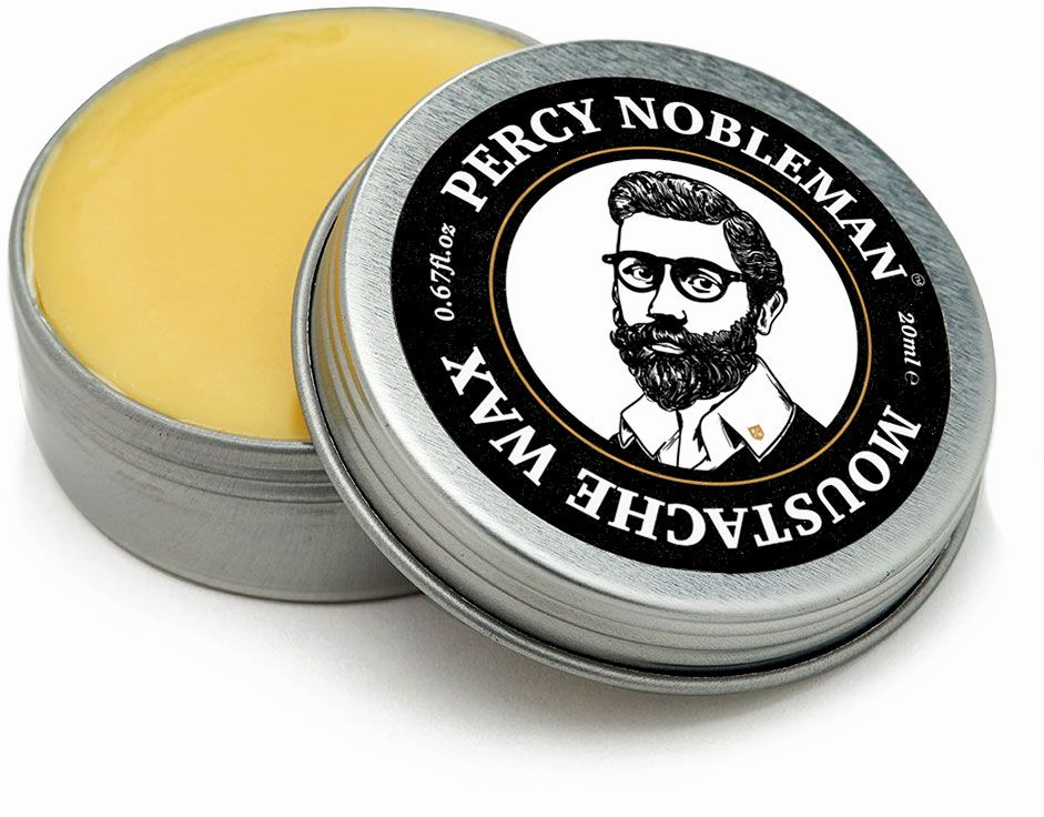 Percy Nobleman Moustache Wax, 20ml Tin
