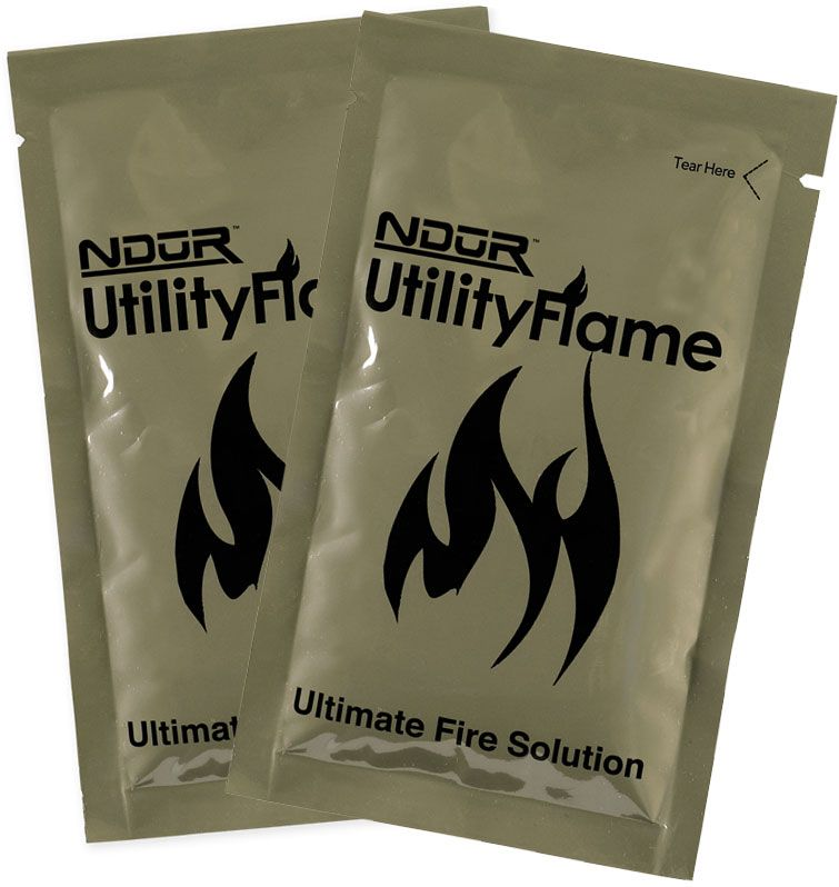NDūR Utility Flame 2-Pack Fire Starter Gel