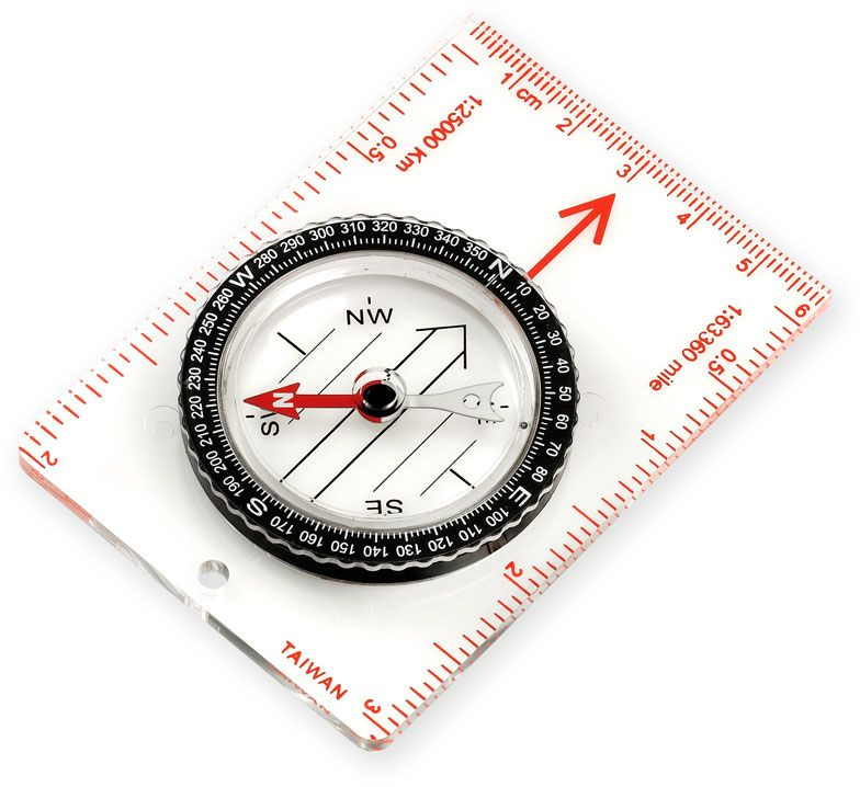 NDūR  Small Liquid Filled Map Compass