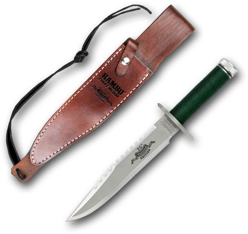 Rambo First Blood 25th Anniversary Edition 9 inch Blade, Leather Sheath