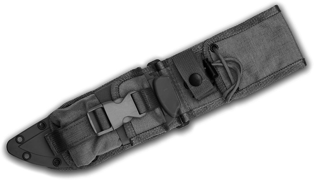ESEE Knives ESEE-6-MBSP-B MOLLE Back, Molded Sheath and Pouch Combo, Black, Assembled
