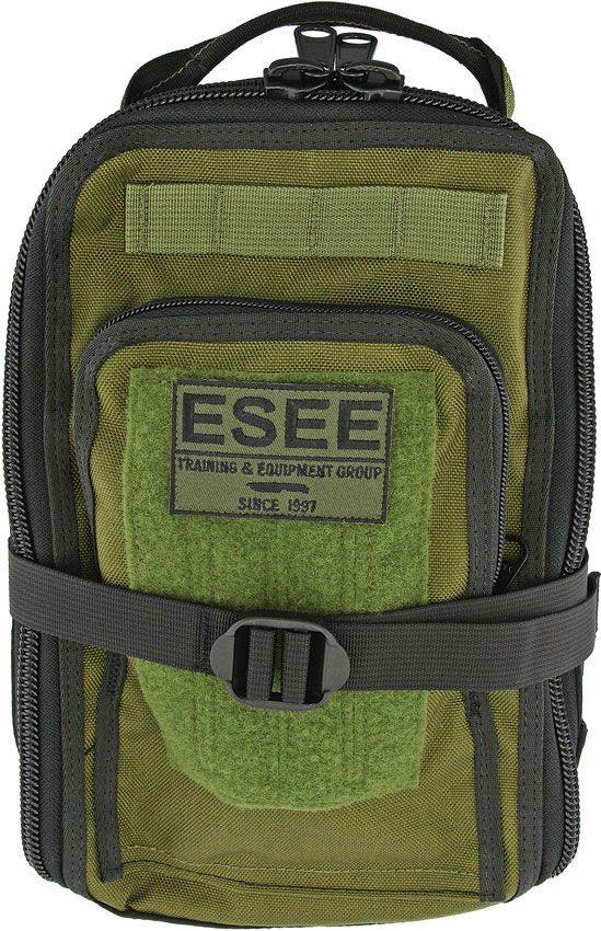 ESEE Advanced Survival Kit with Special Edition ESEE-4 Knife and Izula Gear OD Green Cordura Survival Bag