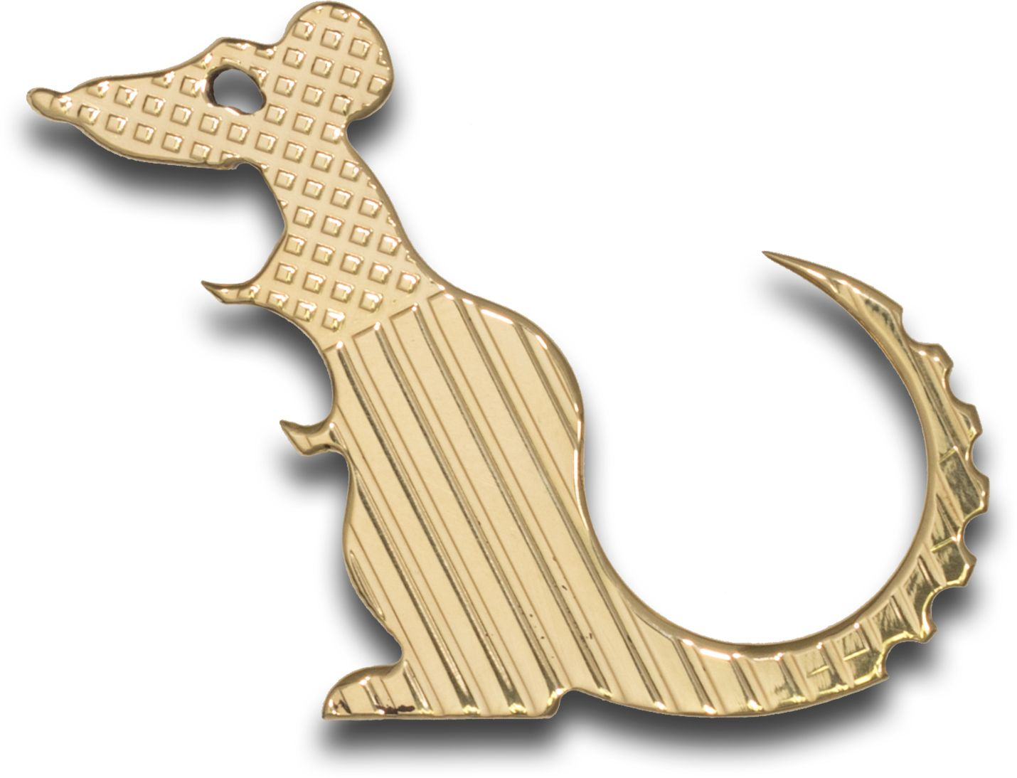 The Rat Bastard RB Tools and Design Polished Brass Stars and Bars  inchCarl inch Bottle Opener