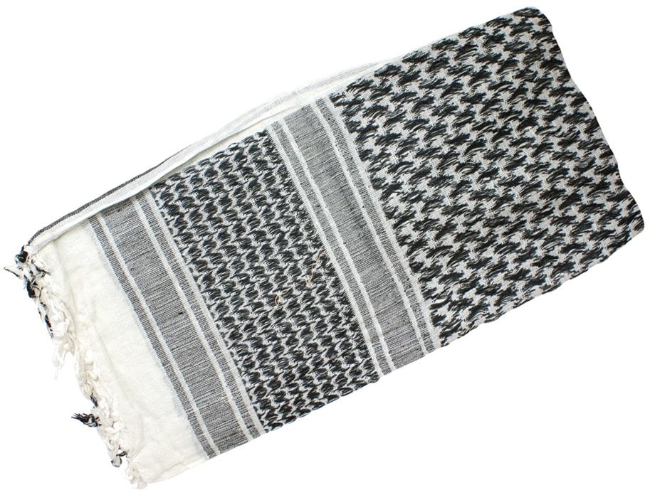 Red Rock Outdoor Gear Shemagh Head Wrap, White/Black