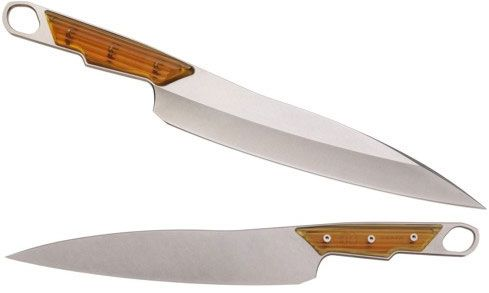 Chris Reeve Sikayo 9 inch Kitchen Chef's Knife, S35VN Stonewashed Blade, UItem 1000 Handles