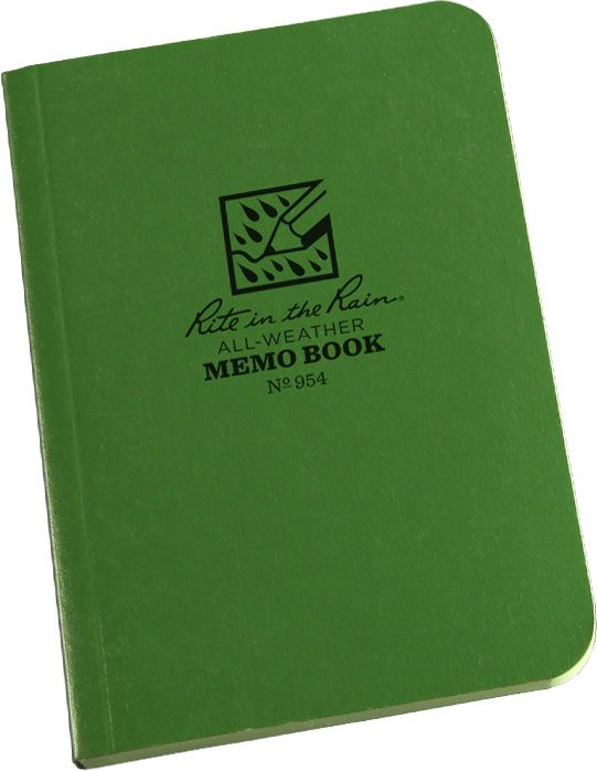 Rite in the Rain Universal Field-Flex Tactical Memo Book, 3-1/2 inch x 5 inch, Green
