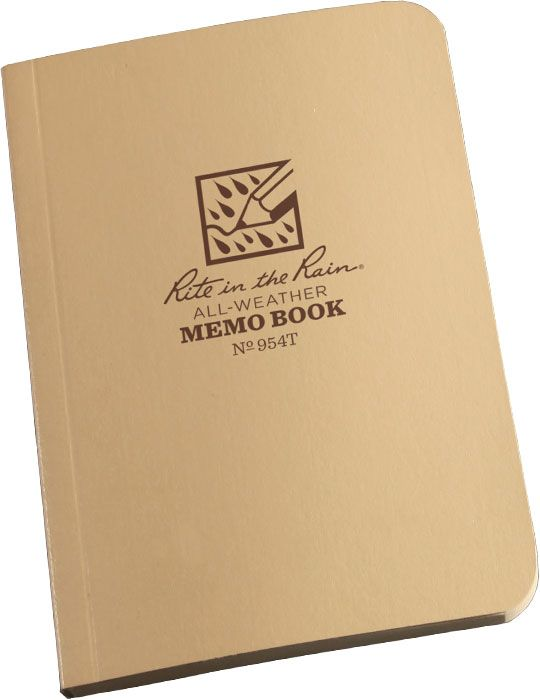 Rite in the Rain Universal Field-Flex Tactical Memo Book, 3-1/2 inch x 5 inch, Tan