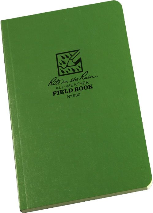 Rite in the Rain Universal Field-Flex Tactical Notebook, 4-5/8 inch x 7-1/4 inch, Green
