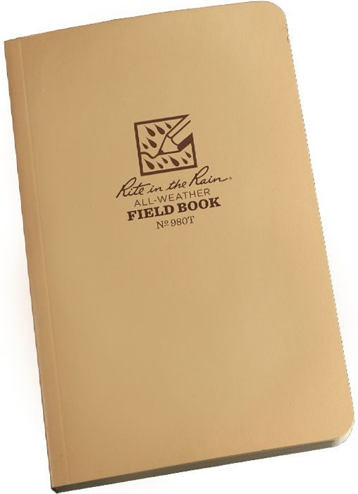 Rite in the Rain Universal Field-Flex Tactical Notebook, 4-5/8 inch x 7-1/4 inch, Tan
