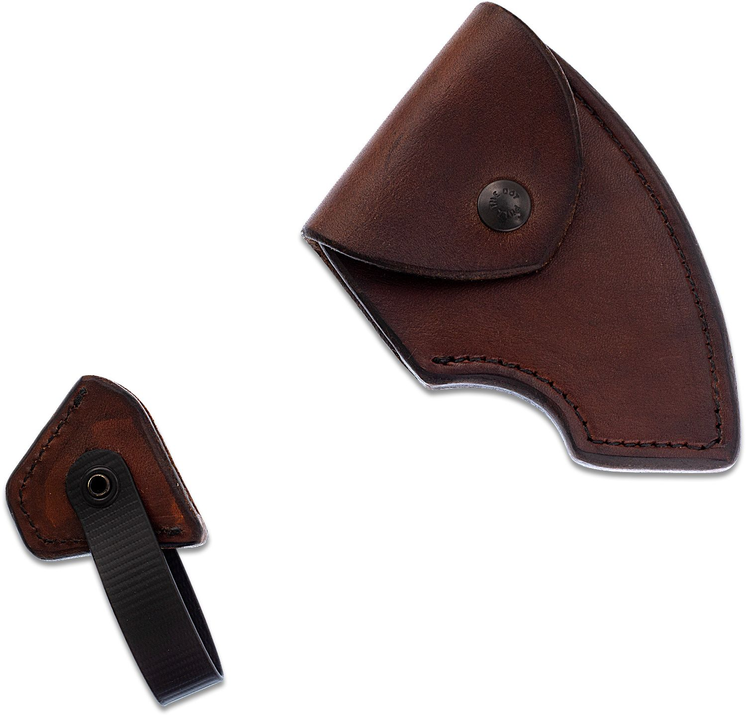 RMJ Tactical Brown Leather Edge Cover for the Berserker Tomahawk, Sheath Only
