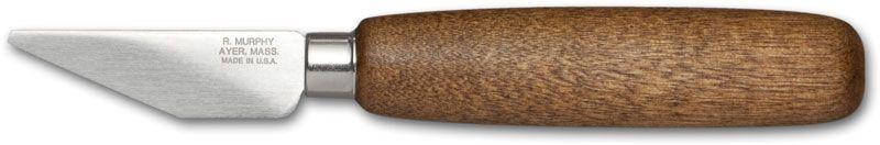 R. Murphy McKay Stitcher Shoe Knife 2 1/8 inch Carbon Blade, Brown Handle