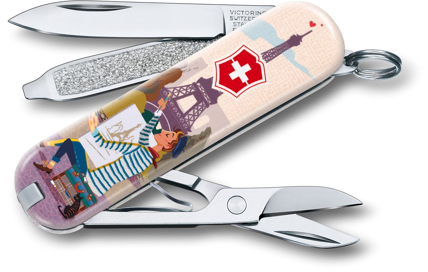Victorinox Swiss Army Contest Classic SD Limited Edition 2018 Multi-Tool, City of Love, 2.25 inch Closed