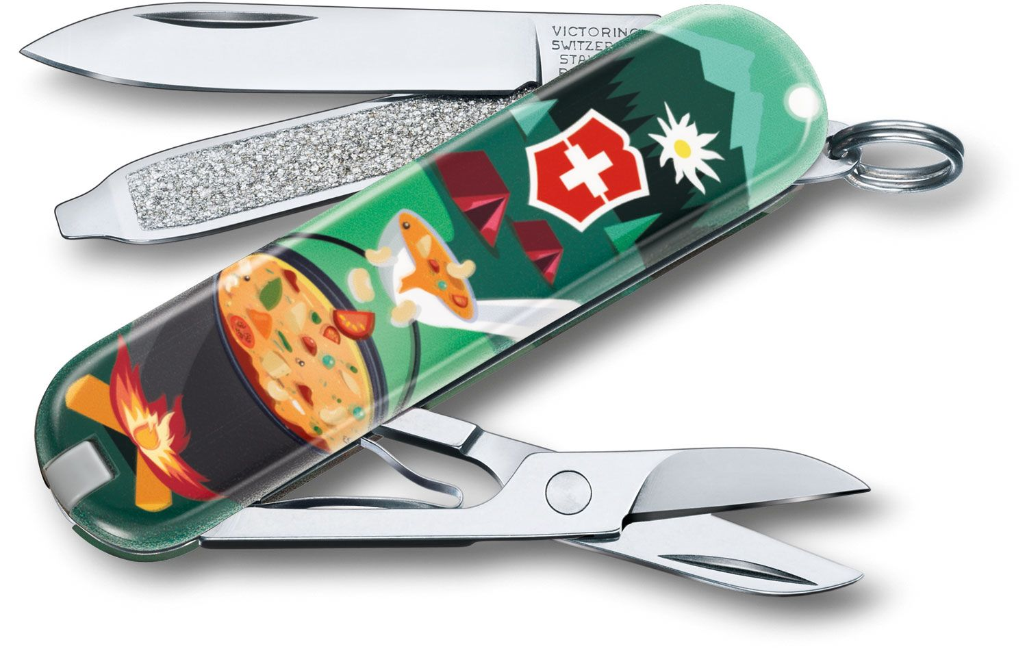 Victorinox Swiss Army Contest Classic SD Limited Edition 2019 Multi-Tool, Swiss Mountain Dinner, 2.25 inch Closed (Old Sku 0.6223.L1907US1)