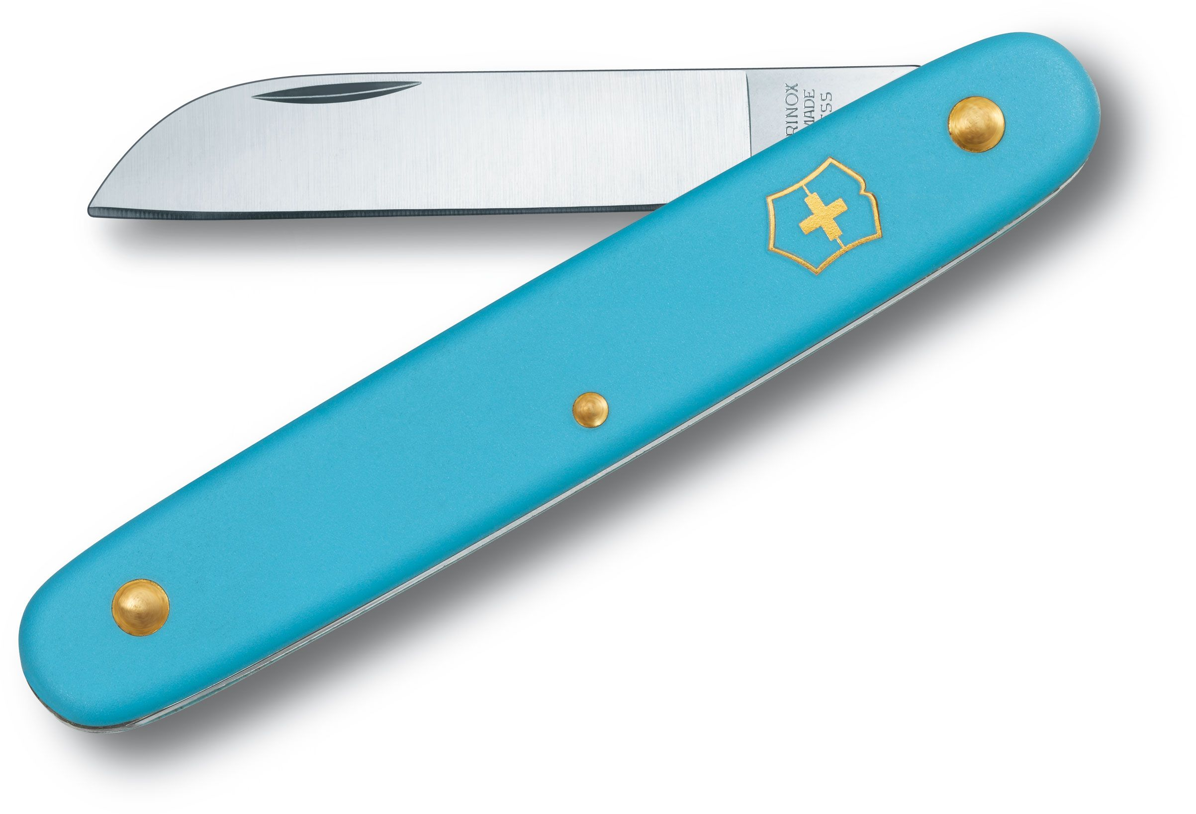 Victorinox Swiss Army 4 inch Floral Knife, Blue