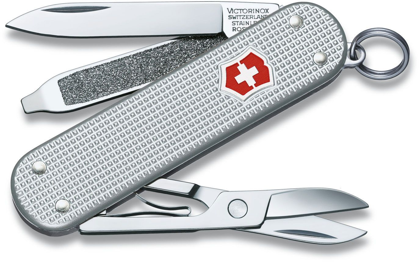 Victorinox Swiss Army Classic SD Multi-Tool, 2.25 inch Silver Alox Handles (Old Sku 53012)