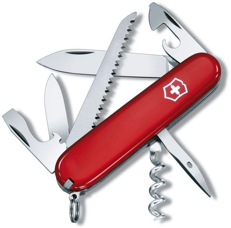 Victorinox Swiss Army Camper Multi-Tool 3-1/2 inch Red Handles
