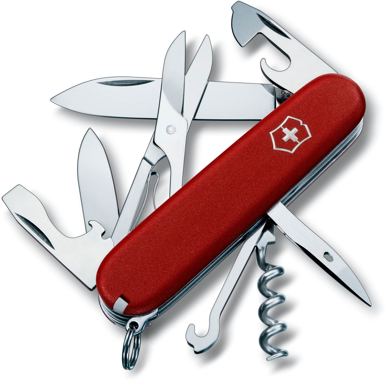 Victorinox Swiss Army Climber Multi-Tool, 3-1/2 inch Red Handles (Old Sku 53381)