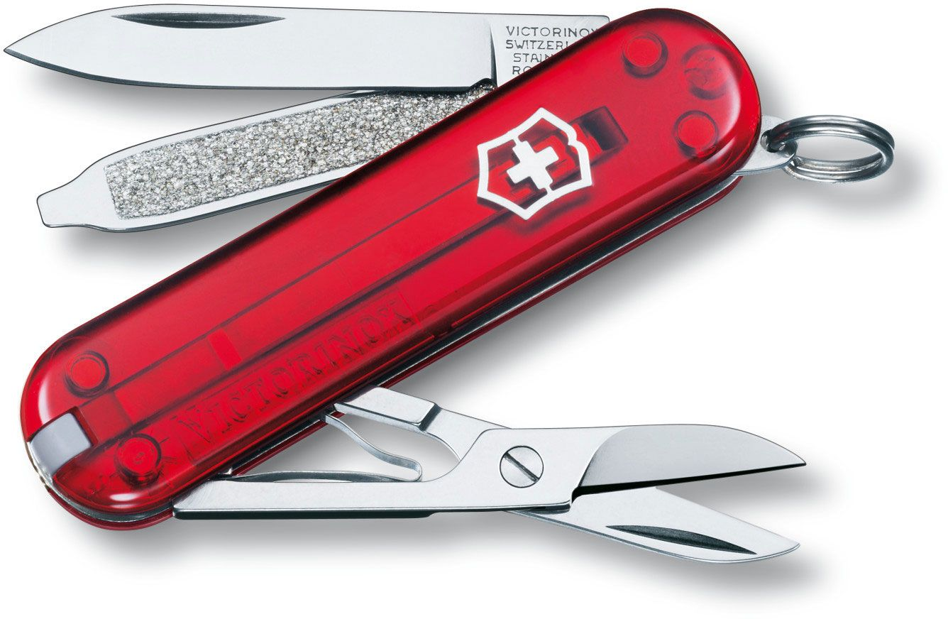 Victorinox Swiss Army Classic SD Multi-Tool, Ruby, 2-1/4 inch Closed (Old Sku 54211)