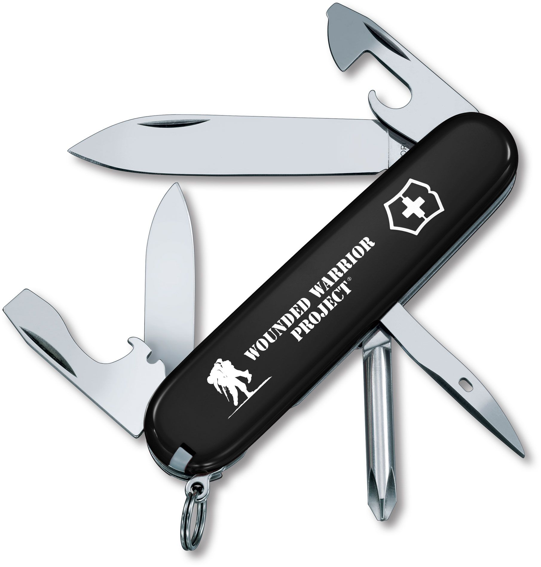 Victorinox Swiss Army Wounded Warrior Project Tinker Multi-Tool, Black, 3.58 inch Closed