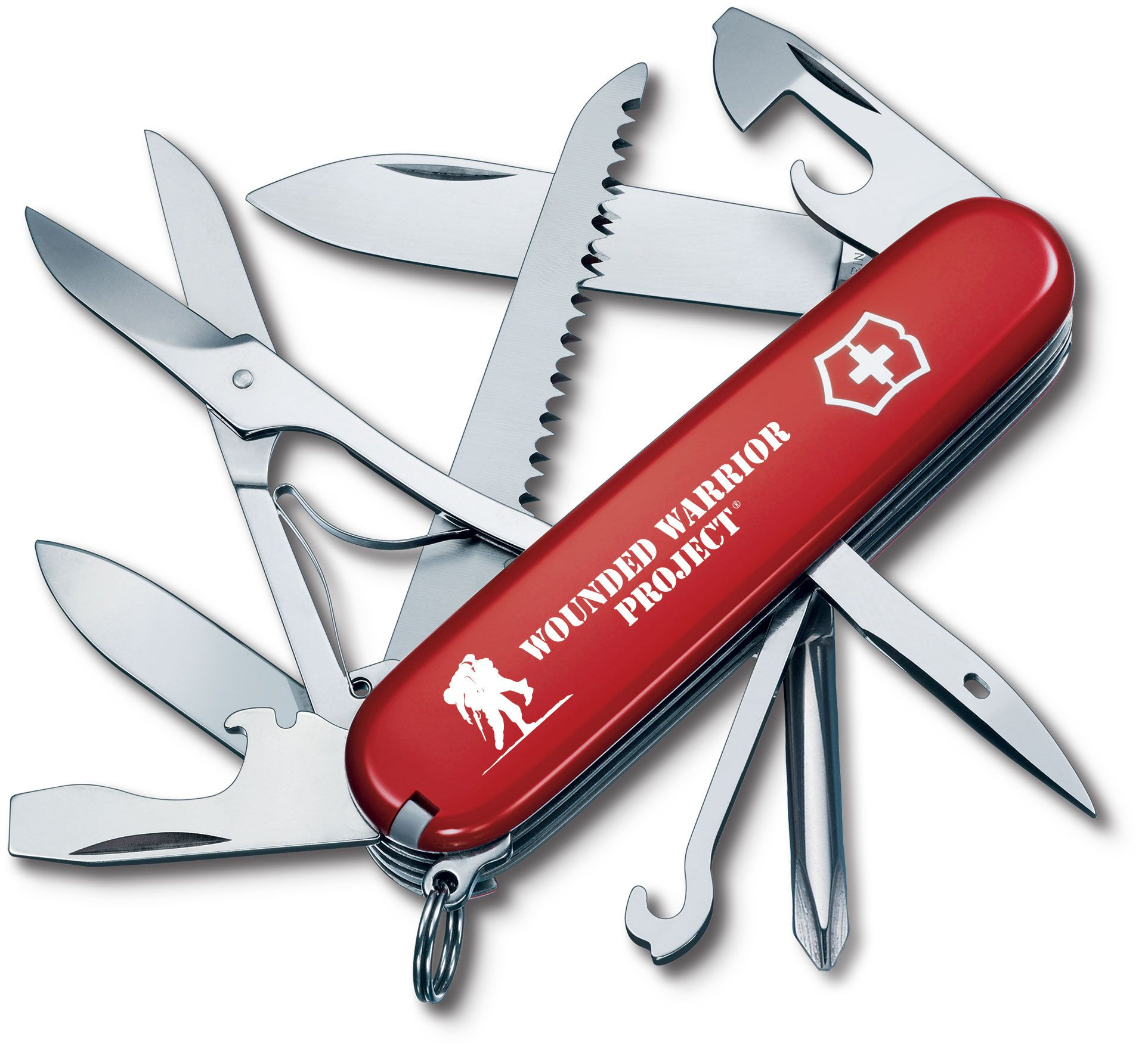 Victorinox Swiss Army Wounded Warrior Project Fieldmaster Multi-Tool, Red, 3.58 inch Closed