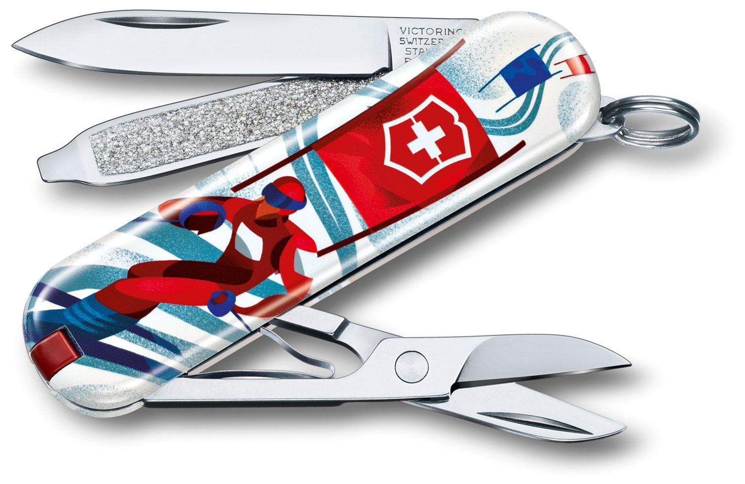 Victorinox Swiss Army 2020 Contest Classic SD Limited Edition Multi-Tool, Ski Race, 2.25 inch Closed