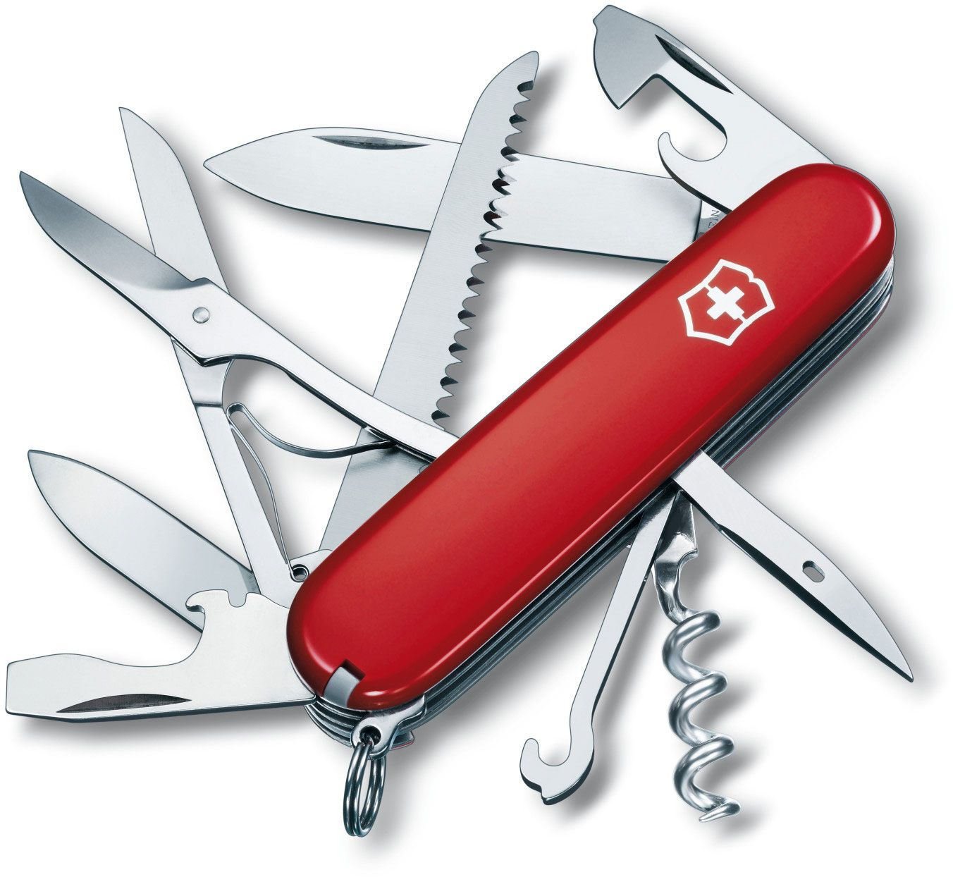 Victorinox Swiss Army Huntsman Multi-Tool, Red, 3.58 inch Closed (Old Sku 53201)