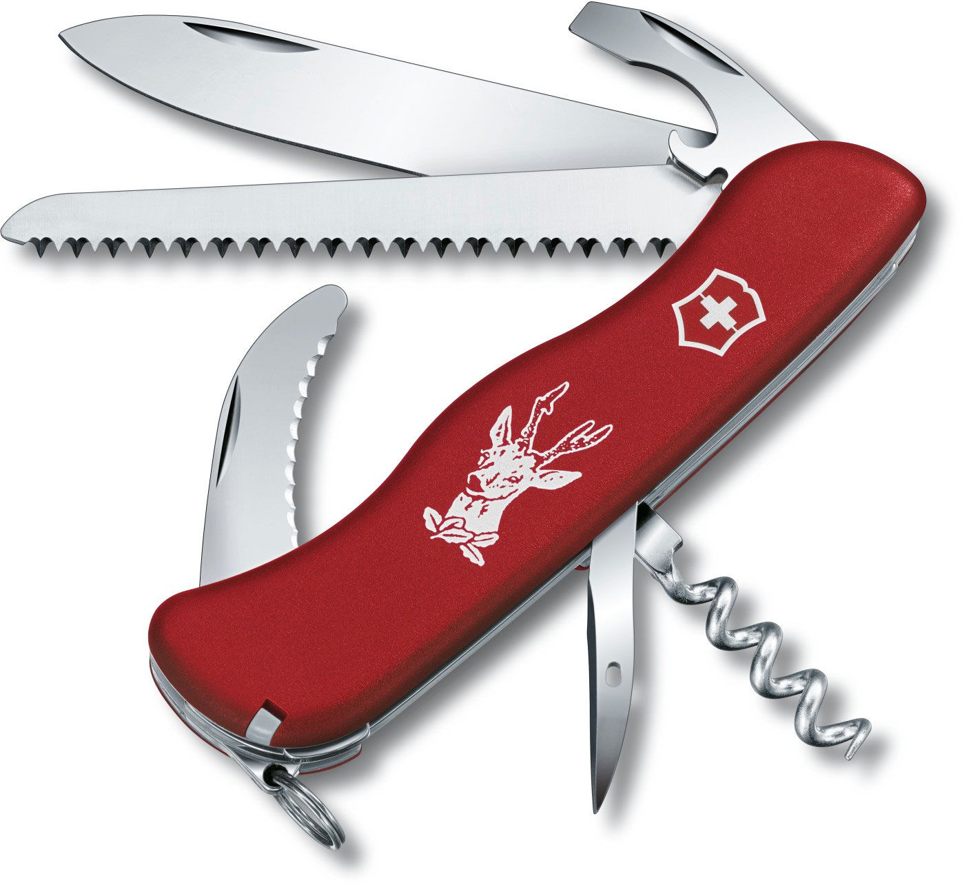 Victorinox Swiss Army Hunter Multi-Tool, Red, 4.37 inch Closed
