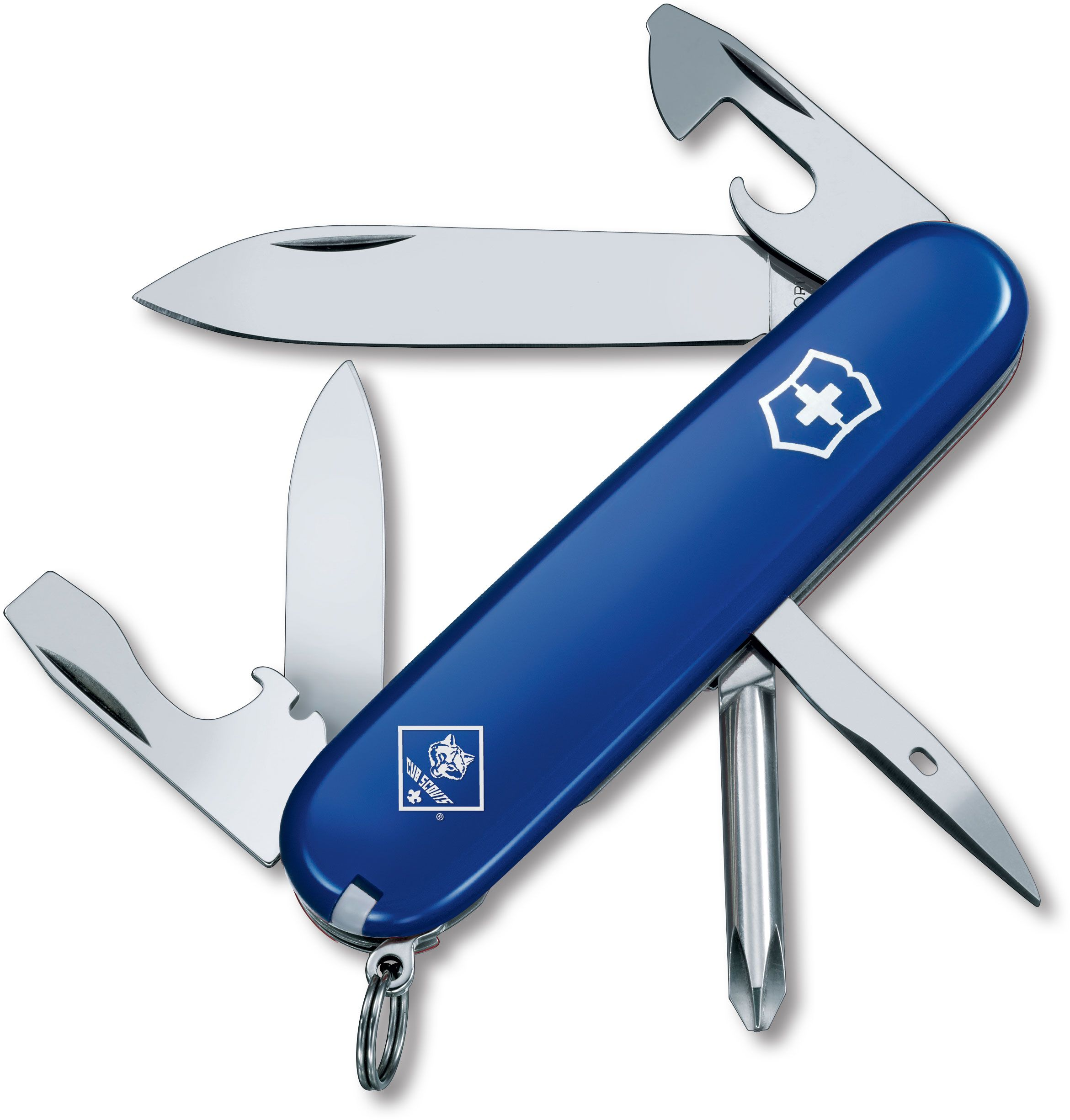 Victorinox Swiss Army Tinker Multi-Tool, Blue, Cub Scout, 3.58 inch Closed