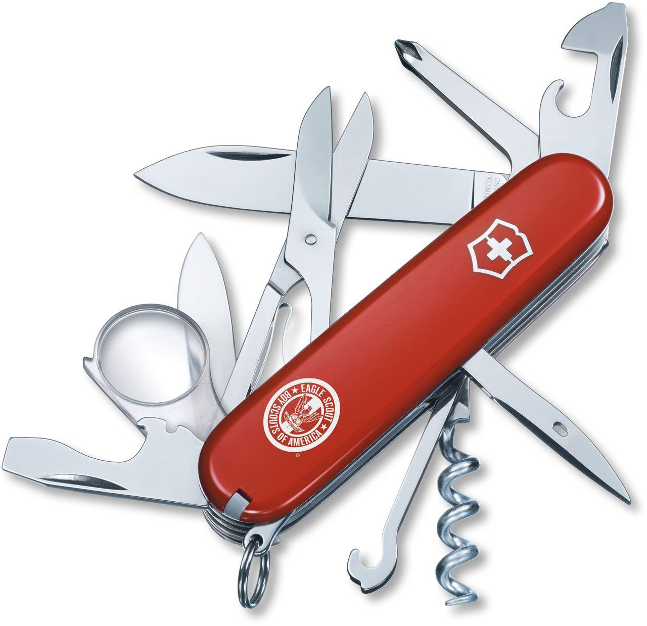 Victorinox Swiss Army Explorer Multi-Tool, Red, Eagle Scout, 3.58 inch Closed (Old Sku 54782)