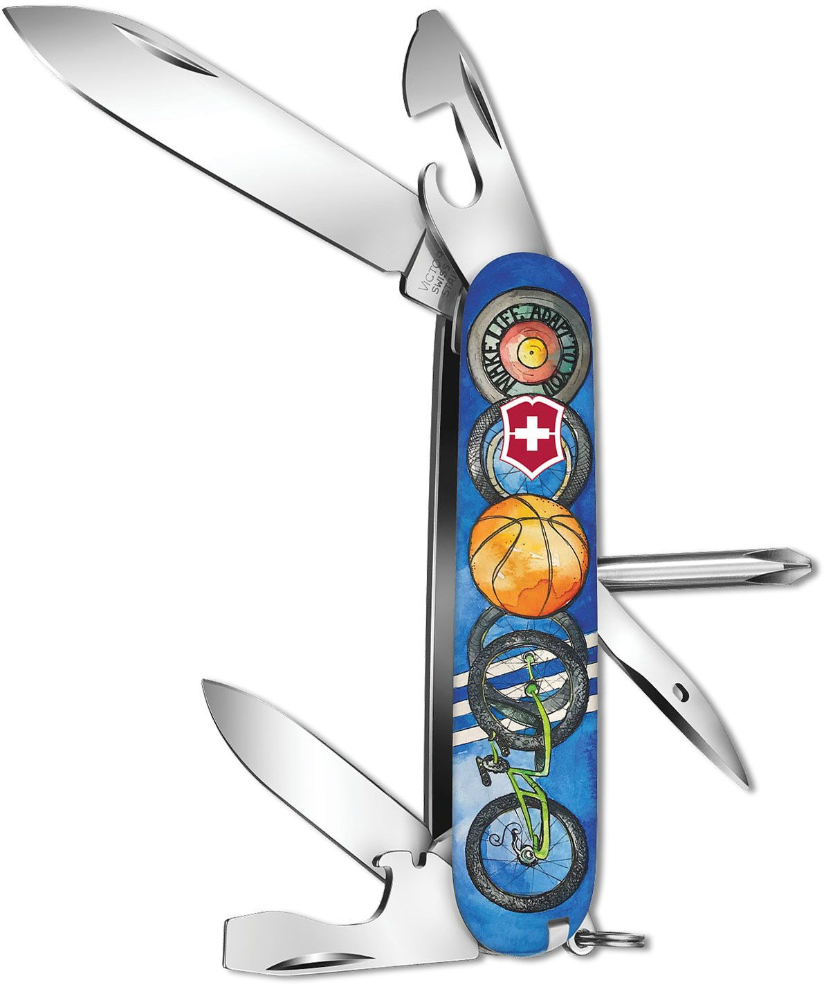Victorinox Swiss Army Wounded Warrior Project Tinker Multi-Tool, Sports, 3.58 inch Closed, Gift Box