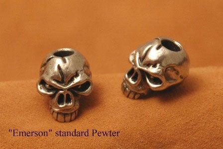 Schmuckatelli Pewter Emerson Skull Bead