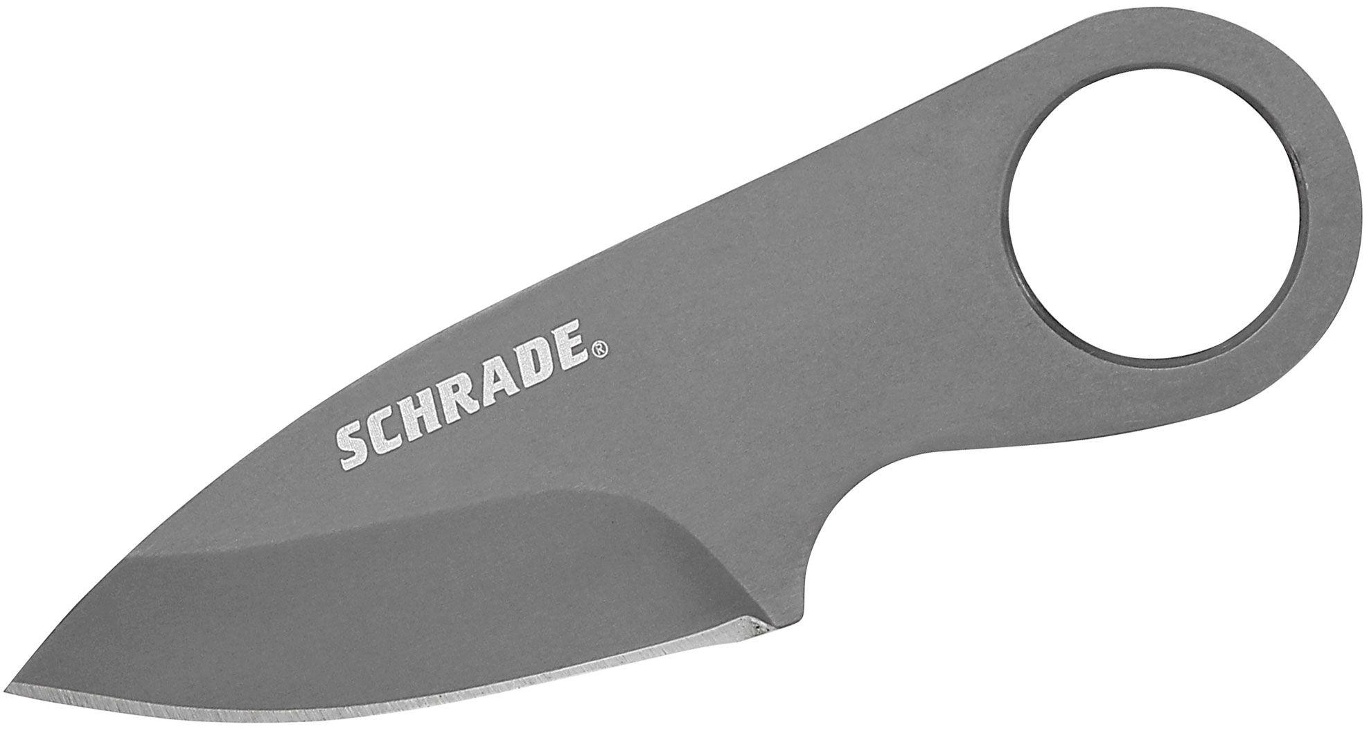 Schrade Credit Card Money Clip Neck Knife 1.9 inch Plain Blade, Zytel Sheath