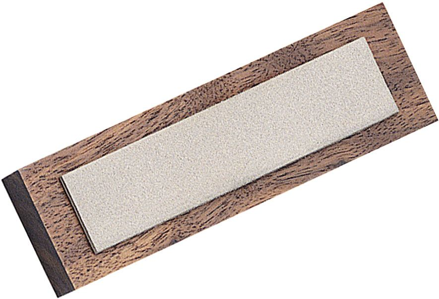 EZE-LAP Diamond Benchstone 1 inch x 4 inch Fine Grit on Wooden Block