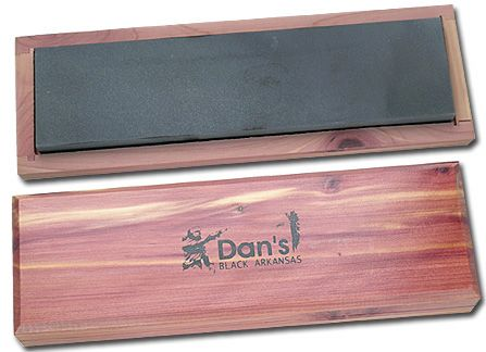 Dan's Whetstone Wide 8 inch Black Hard Arkansas Ultra Fine Novaculite Bench Stone Box (8 inch x 3 inch x 1/2 inch)