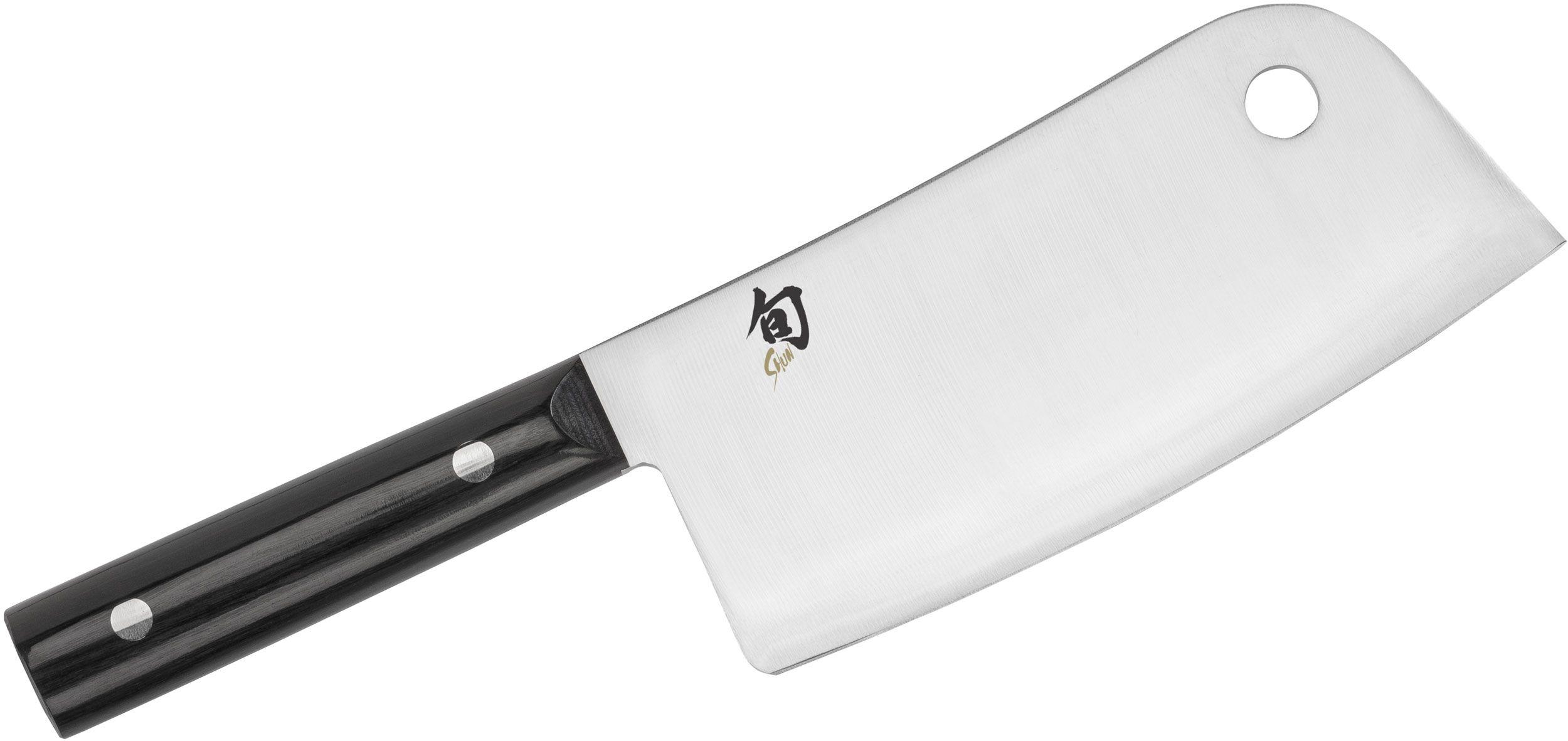 Shun DM0767 Classic Meat Cleaver 6 inch Blade, Pakkawood Handles