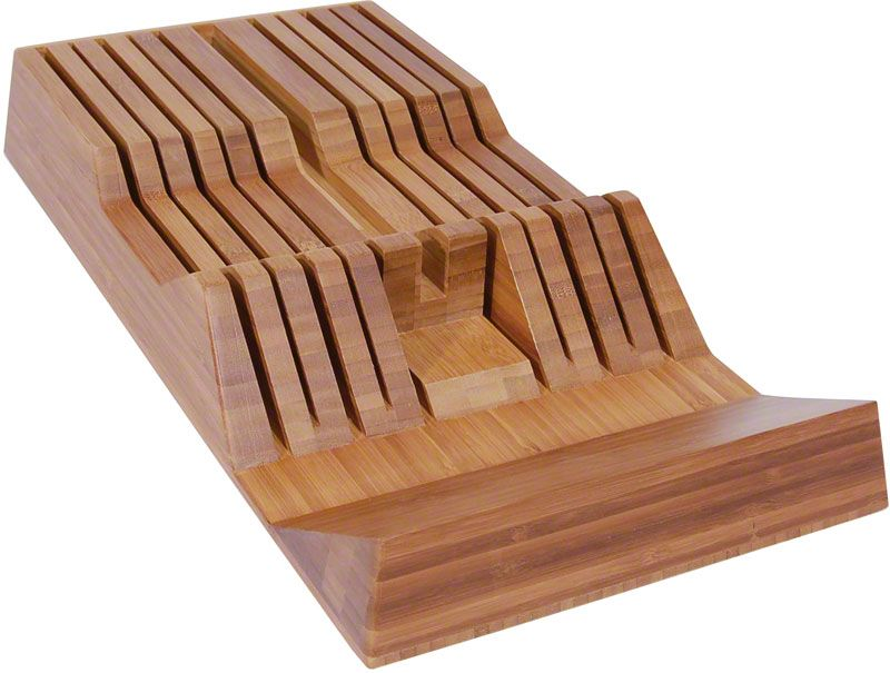 Shun DM0835 11-Slot In-Drawer Bamboo Knife Tray