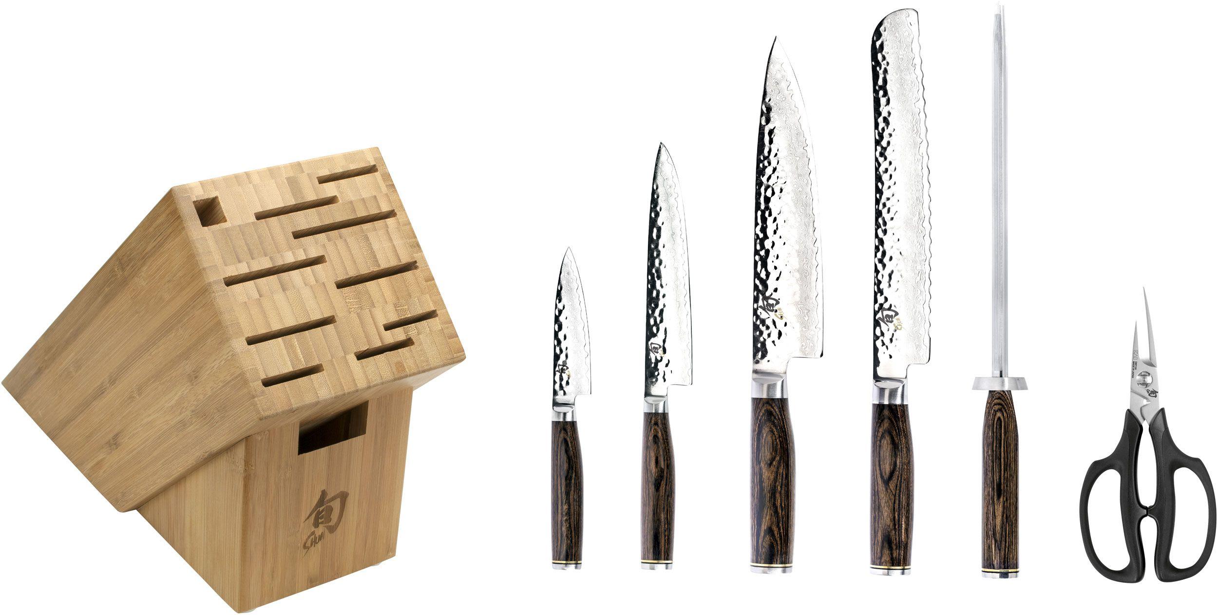 Shun TDMS0700 Premier 7 Piece Essential Bamboo Block Set