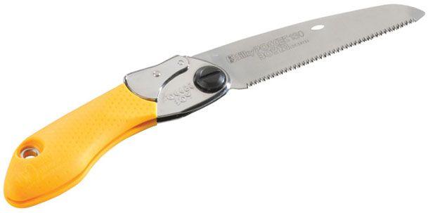 Silky Saws Pocketboy 130 Folding Saw, 5.1 inch Fine Teeth Blade, Rubber/Steel Handle