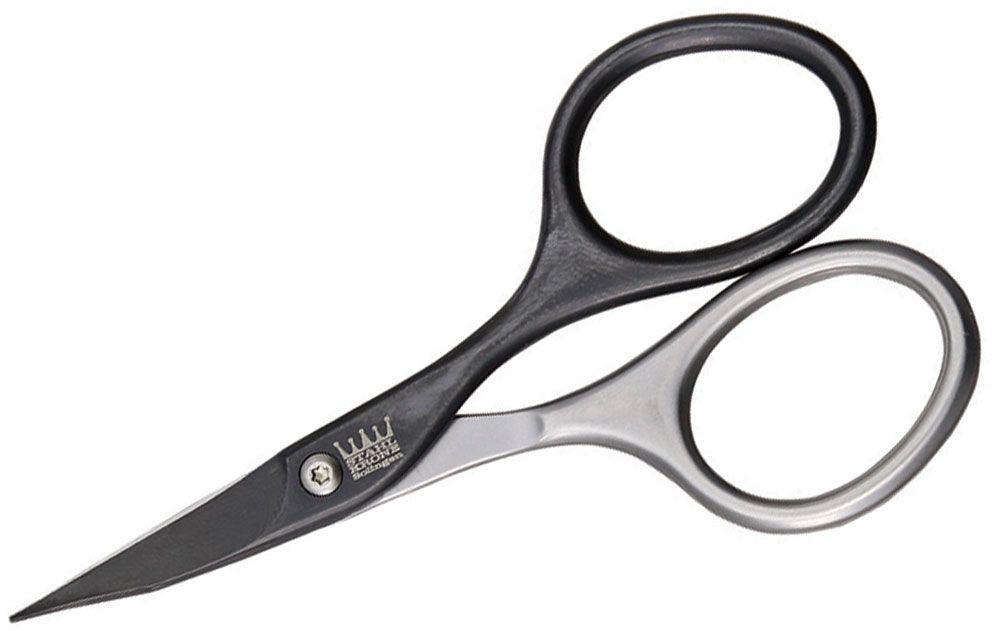 Simba Tec STAHL-KRONE Self-Sharpening Manicure Nail Scissors 3.75 inch Overall, Black