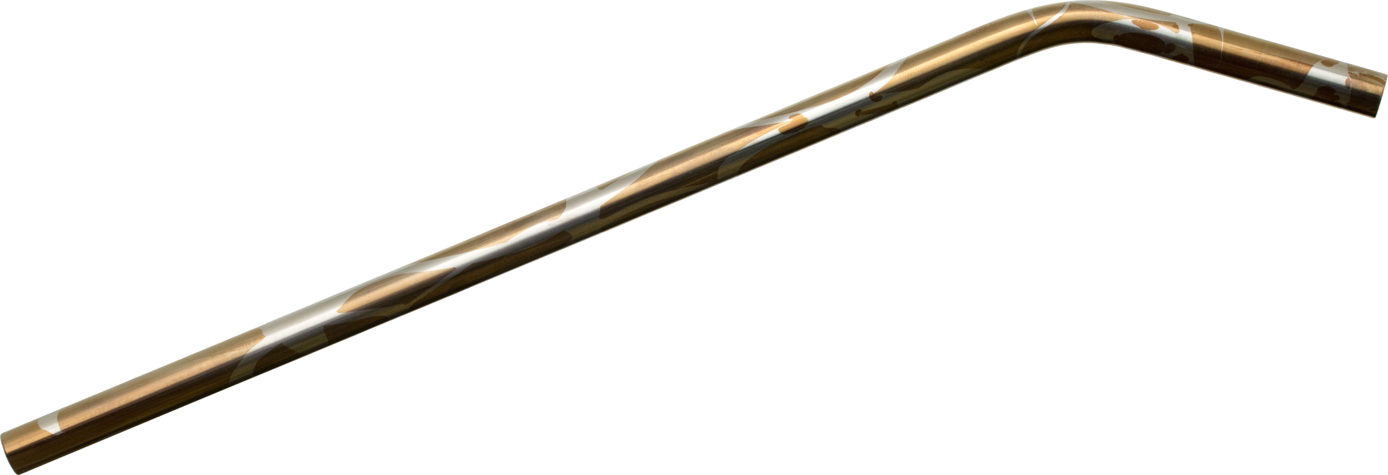 SK Knives Bronze Splash Anodized Bent Titanium Drinking Straw, 9.87 Overall