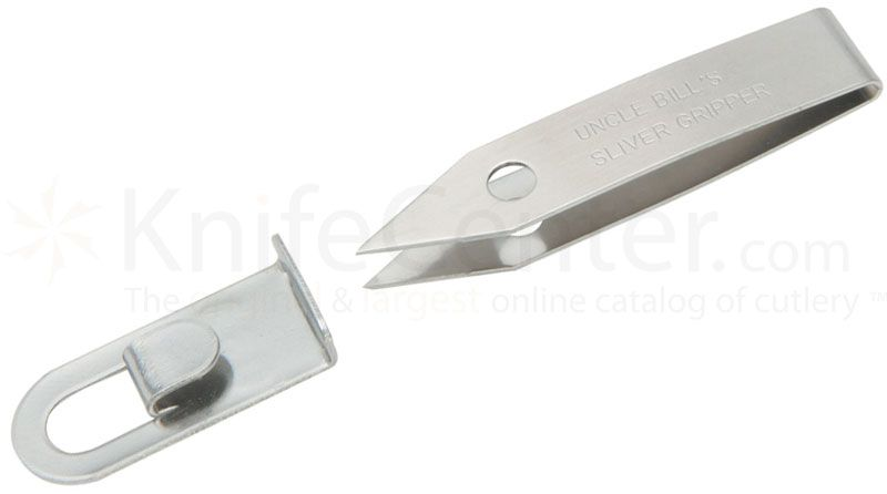 Sliver Gripper Stainless Steel Point Tweezers, Carry Loop, USA Made