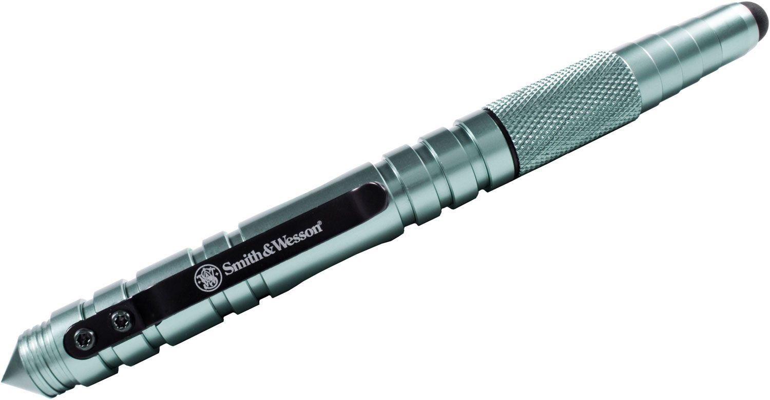 Smith & Wesson Tactical Pen and Stylus, Gray Aluminum