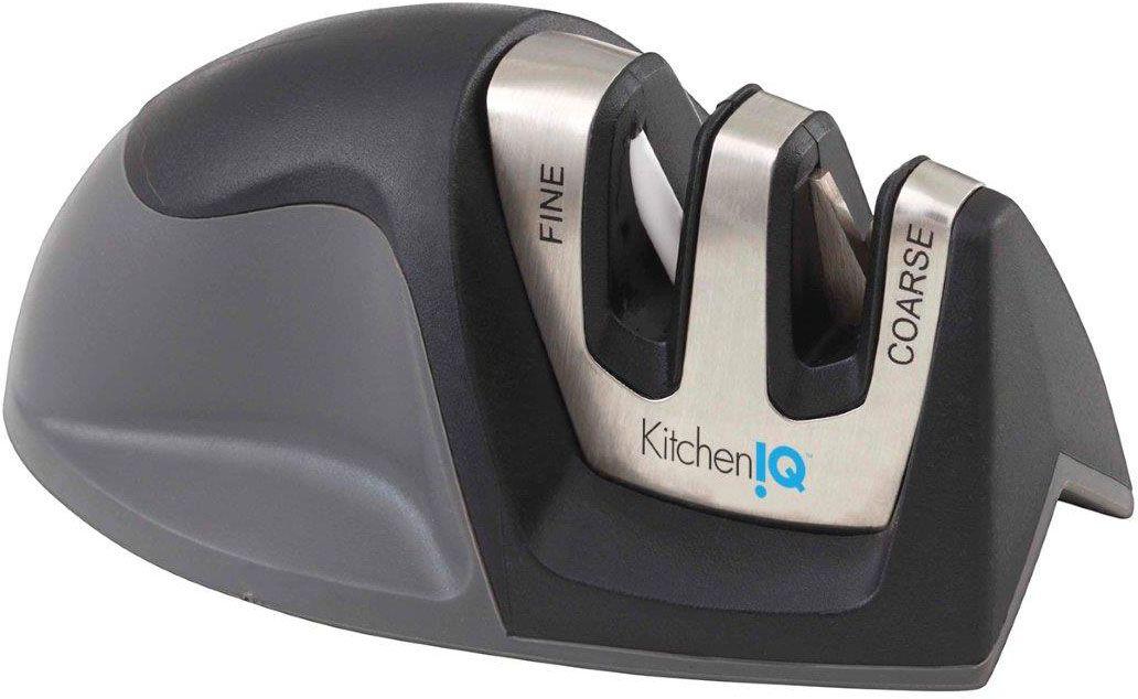 KitchenIQ by Smith's 50009 Edge Grip 2-Step Knife Sharpener