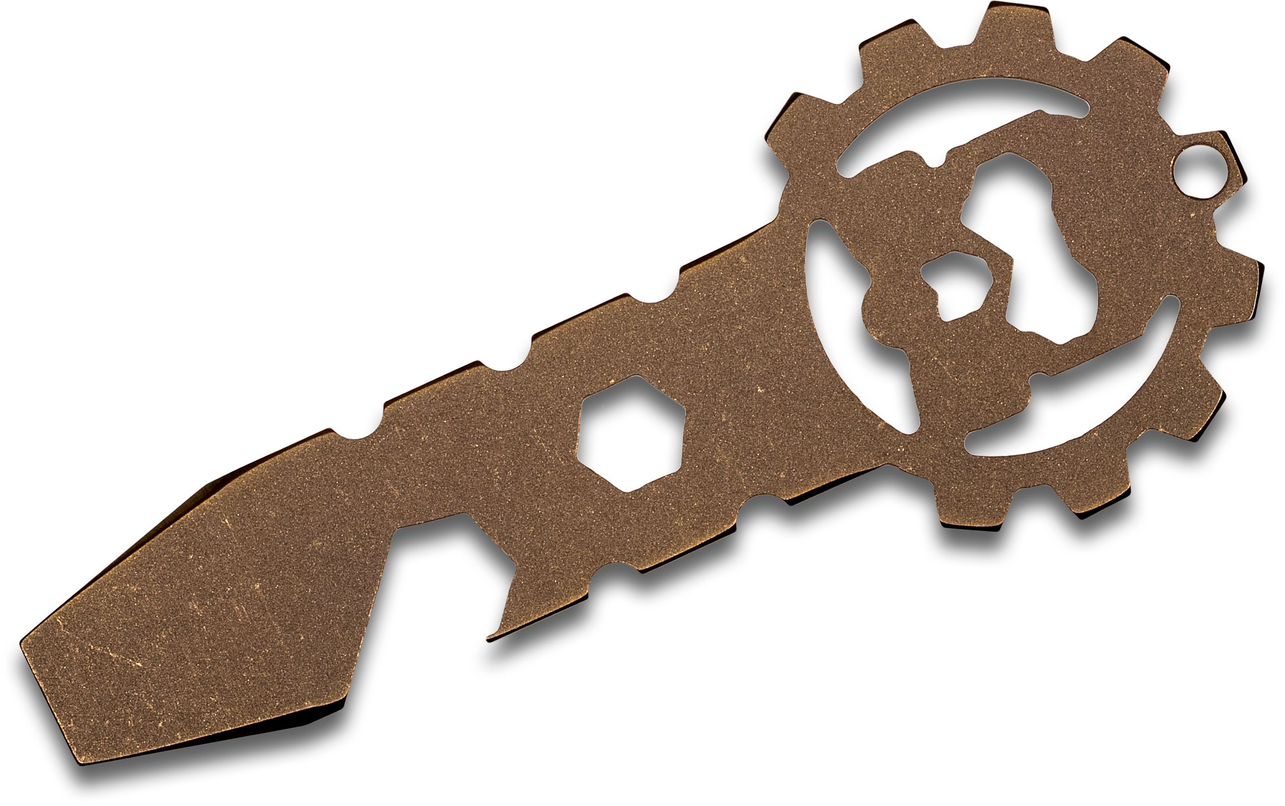 Smock Knives SmocKey Titanium Keychain Pocket Tool, Bronze Anodized, 3.25 inch Overall