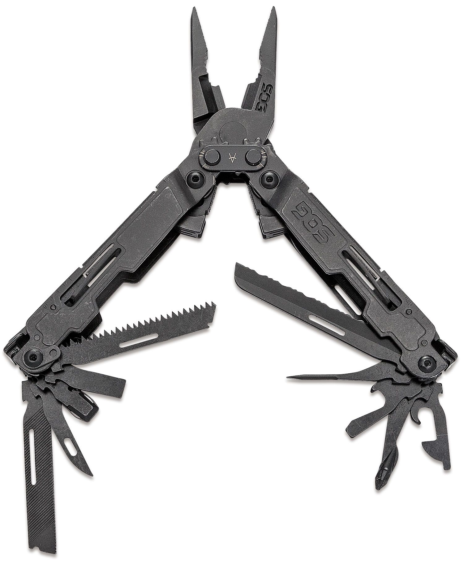 SOG PowerAccess Deluxe Multi-Tool (Black) with 21 Tools and 12-Piece Bit Kit, Nylon Sheath