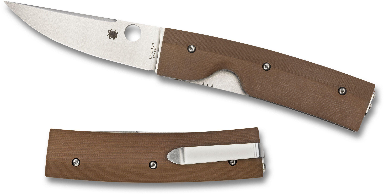 Spyderco C164GPBN Nilakka Folding Puukko 3.51 inch S30V Blade, G10 Handles