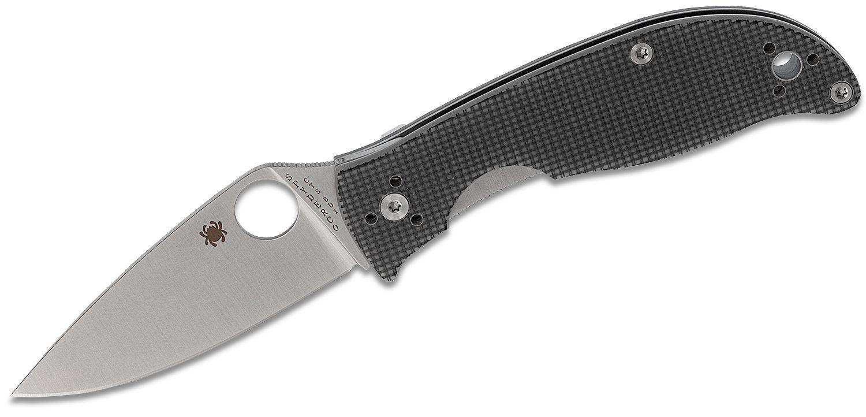Spyderco Polestar Folding Knife 3.3 inch CTS BD1 Satin Plain Blade, Gray G10 Handles